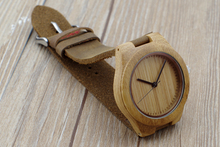 Wristwatches With Genuine Cowhide Leather Band