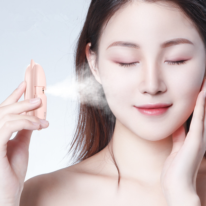 BOMEINENG 3 Tanks Handheld Mini Humidifier USB Rechargeable Facial Sprayer Beauty Hydrating Water Mist Maker Portable Diffuser