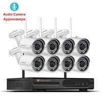 8CH аудио запись с NVR Беспроводной WI FI IP Камера CCTV Systmes легкая установка plug & play 2.4g wifi комплект 960 P VGA/HDMI ip cam