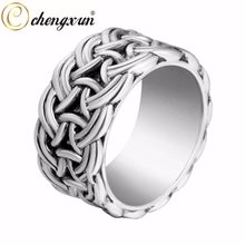 CHENGXUN Infinite Twisted Wide Fashion Rings Norse Viking Mens Finger Ring Scandinavian Norse Jewelry Size 9(China)
