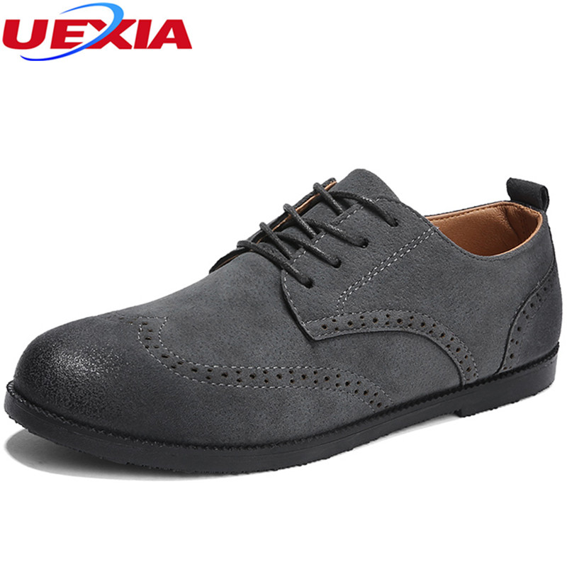 UEXIA 2018 Leather Shoes Men Casual Slip-on Flat Business Shoes Men Loafers Handmade Design Moccasins Hombre male oxford lace-up hot sale mens italian style flat shoes genuine leather handmade men casual flats top quality oxford shoes men leather shoes