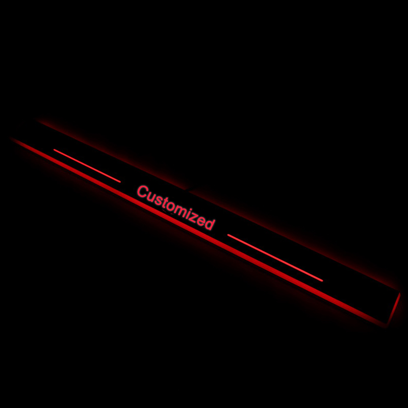 SNCN Trim Pedal LED Car Light Door Sill Scuff Plate Pathway Dynamic Streamer Welcome Lamp For Mercedes Benz CLA W117 2013 2015 in Decorative Lamp from Automobiles Motorcycles