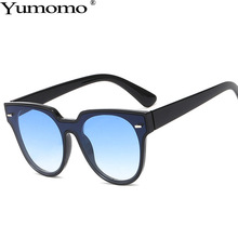 Yumomo Round Sunglasses Women Fashion Vintage Rice Nail Ocean Yellow Leopard Gradient Mirror UV400 Oculus Feminino De Sol Gafas
