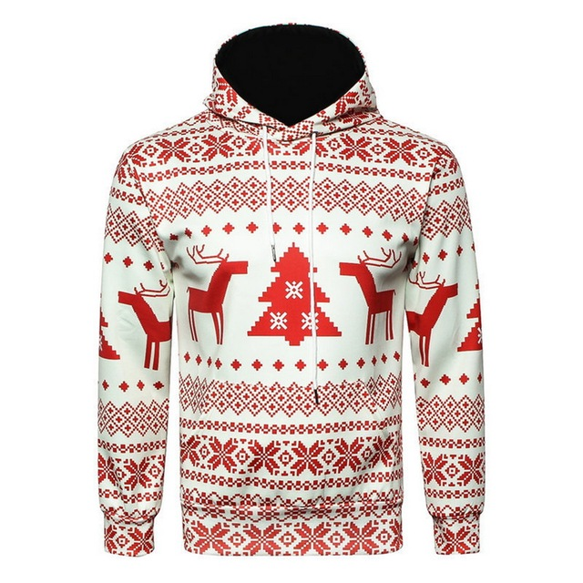 5fddb593 2018 Men Christmas Autumn Winter Fashion 3D Printed Snowflake Sweatshirt  Warm Hooded Casual Male Jumper Pullover Hoodie Blouse