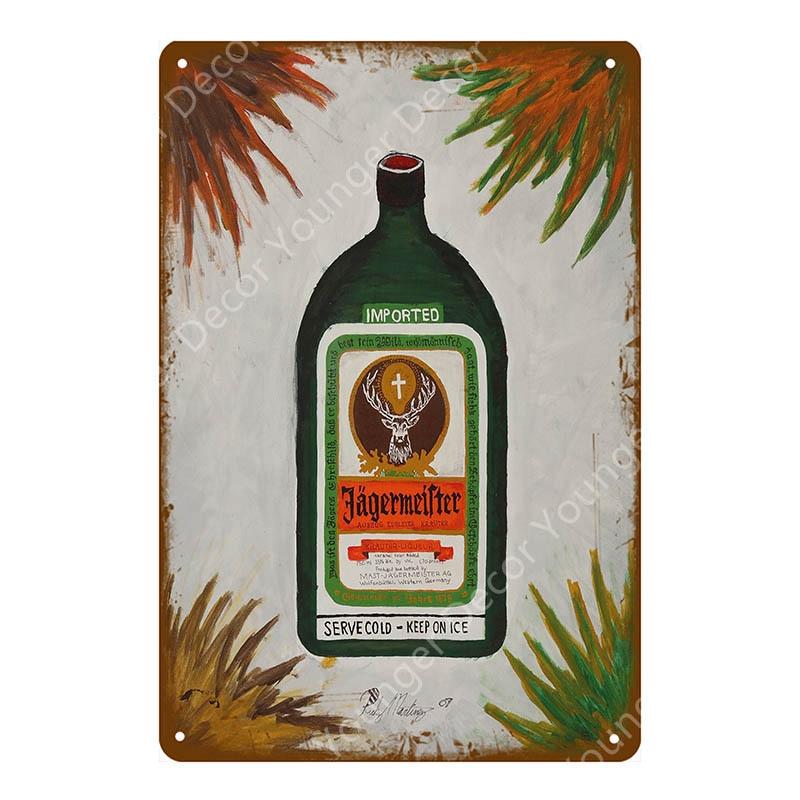 4x Jägermeister Slogan-magnets memo pin board Table Deco Advertising Advertising New OVP