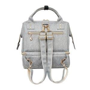 Image 5 - Bolsa de pañales para bebés con interfaz USB, mochila de maternidad para hombros, bolsa de lactancia de diseño para pañales con bolsillo para botella con aislamiento térmico