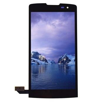 LG Leon için H340 H320 H324 H340N Siyah dokunmatik ekran digitizer Sensörü Cam Panel + lcd ekran monitör ekranı Panel Montajı