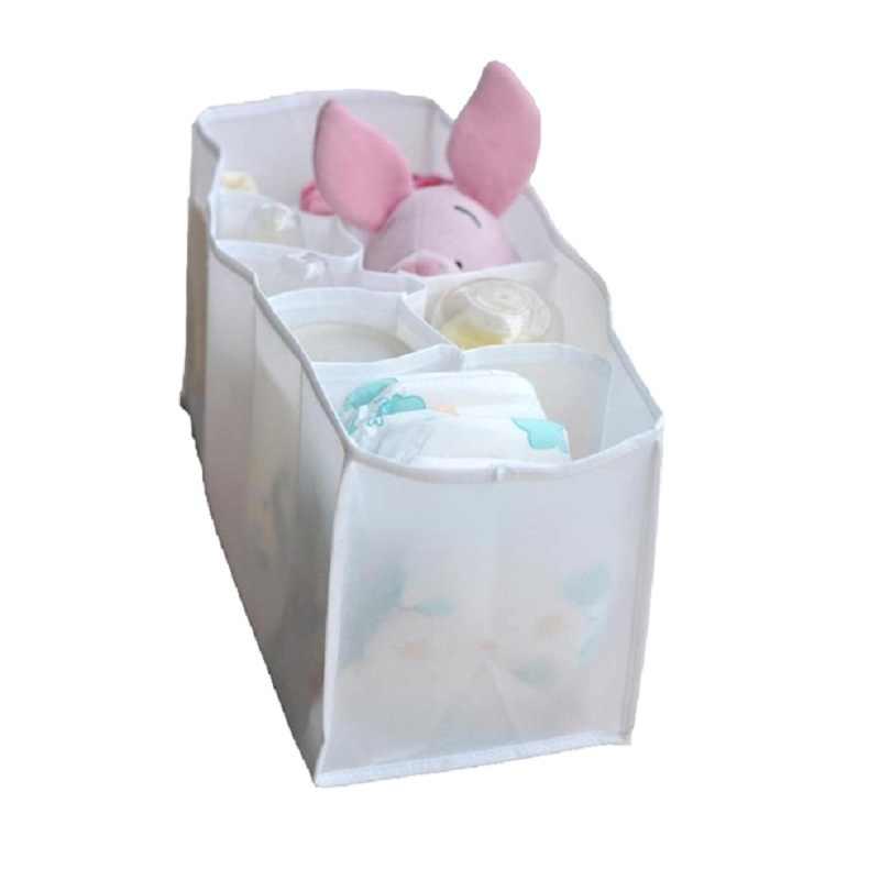Viagem portátil 7 Forros de Armazenamentos de cesta Do Armazenamento Do Bebê Comida para Bebé Fralda Do Bebê Nappy Organizador Stuffs Armazenamento Bin Caixas de Cuidados Com o Bebê