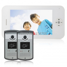 2V1 7 Inch TFT Digital Color LCD Monitor 1/3 CMOS Night Vision Camera Door Phone System