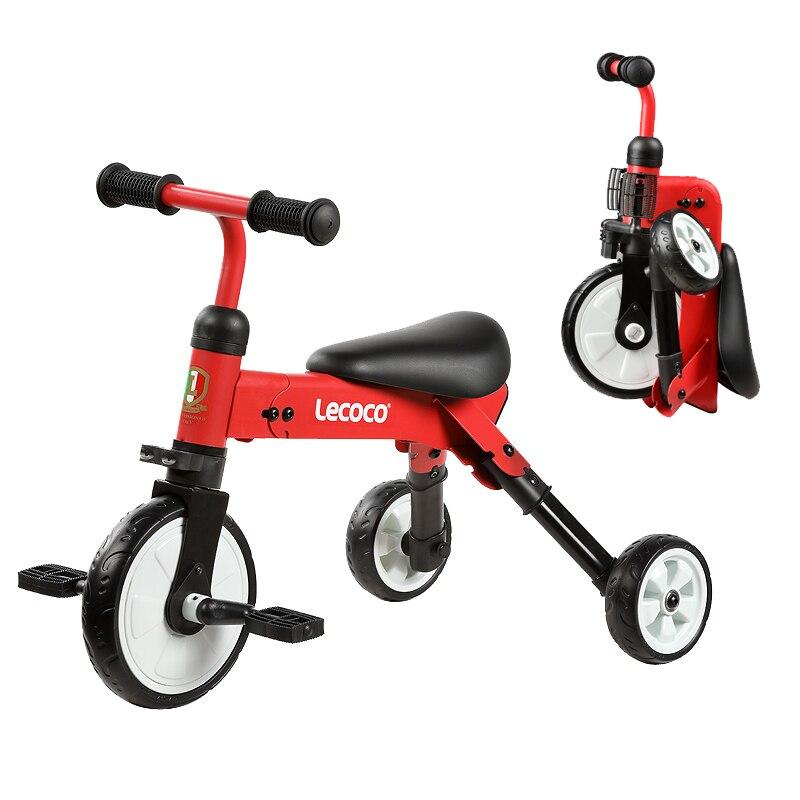Pliable enfants vélo Tricycle enfant Scooters 2 en 1 garçon fille bébé vélo coup de pied Scooters 3.5 KG léger Portable