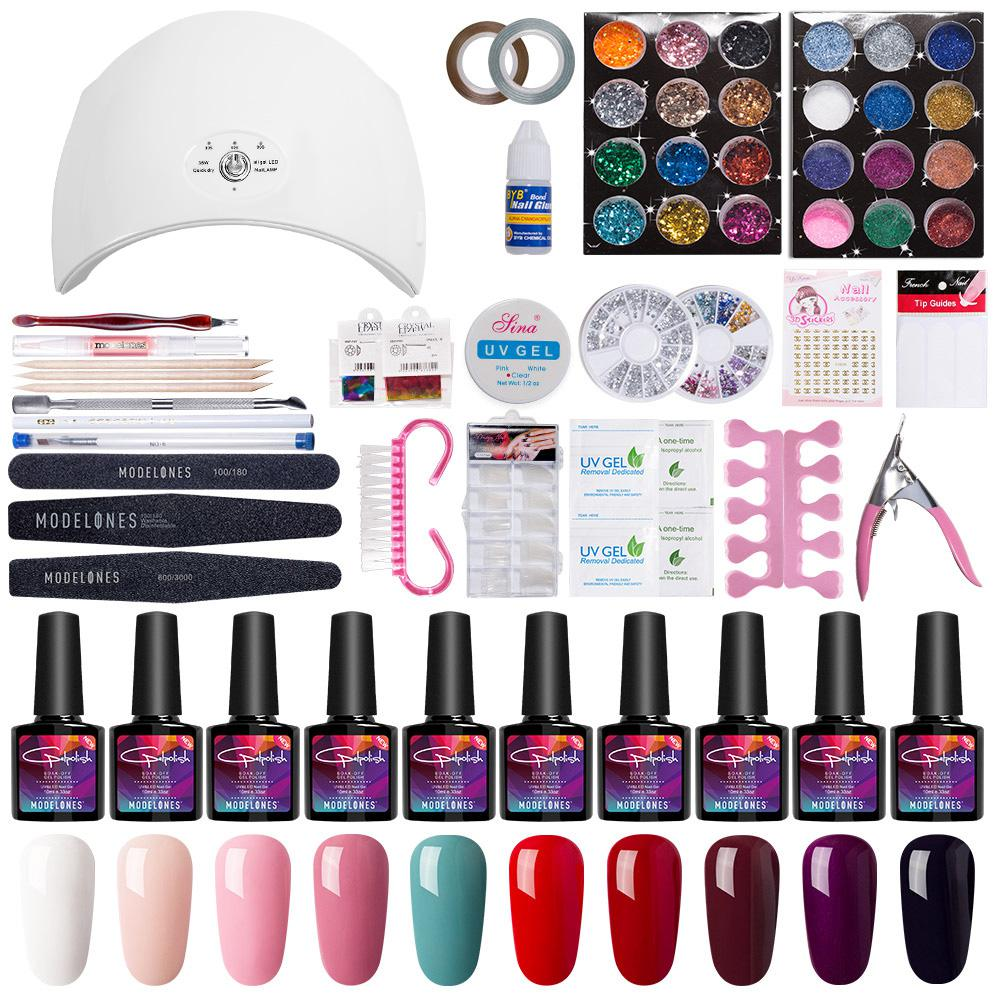 Nail Art Pro DIY Full Set Soak Off Uv Gel Polish Manicure