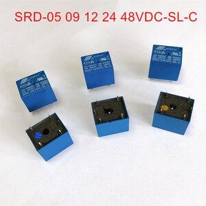 3V 5V 6V 9V 12V 24V 48V DC SONGLE Power Relay T73-3V SRD-05V 12V 24V 48VDC-SL-C PCB Type(China)