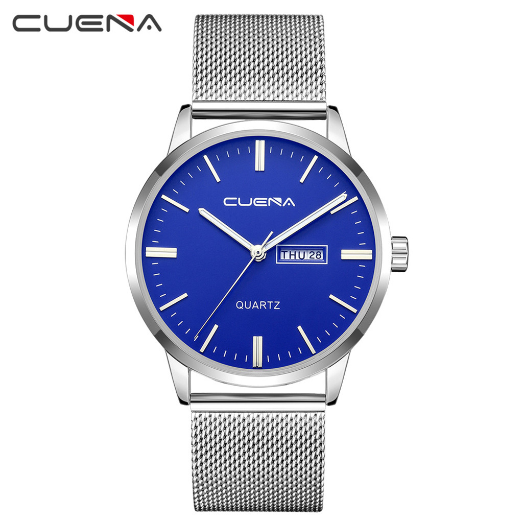 CUENA Fashion Casual Montre Homme 2019 Stainless Steel Military Relojes Para Hombre Round Relojes Para HombreCUENA Fashion Casual Montre Homme 2019 Stainless Steel Military Relojes Para Hombre Round Relojes Para Hombre