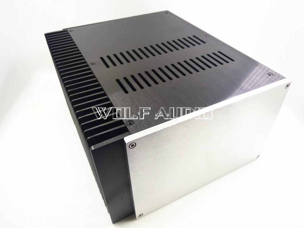 2515 Aluminum Single Radiator Enclosure Amplifier Chassis/ Preamp Case/ PSU Box cnc4309 high end amplifier enclosure cnc full aluminum preamplifier chassis dac box psu case