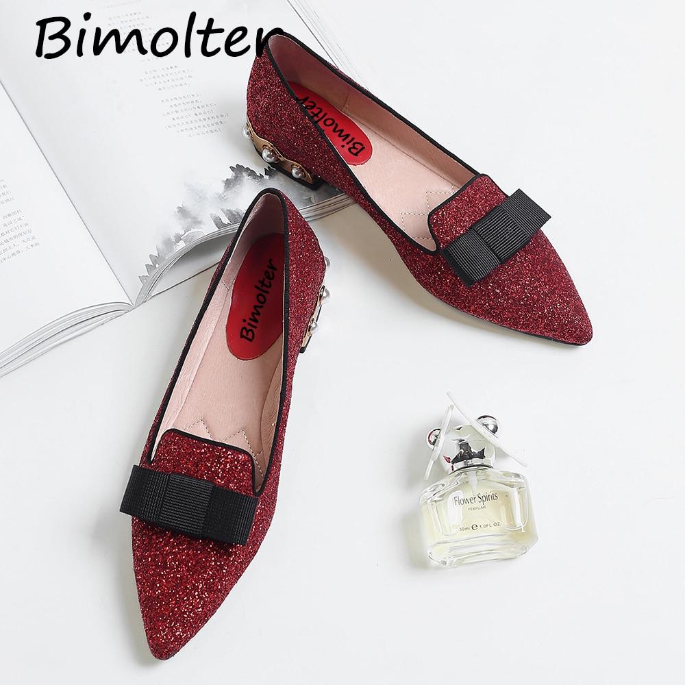 Bimolter Echtes Leder Flache Schuhe Frau Schaf Wildleder Loafers - Damenschuhe - Foto 4