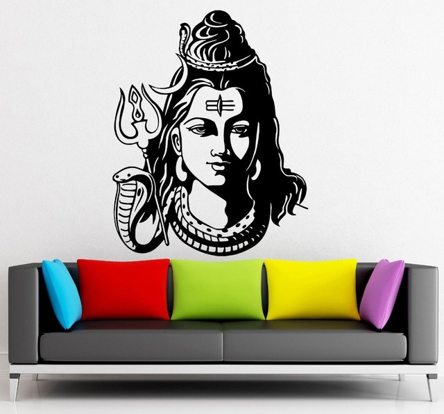 God Shiva India Hindu Religion Wall Sticker home decor Wall Decals ...