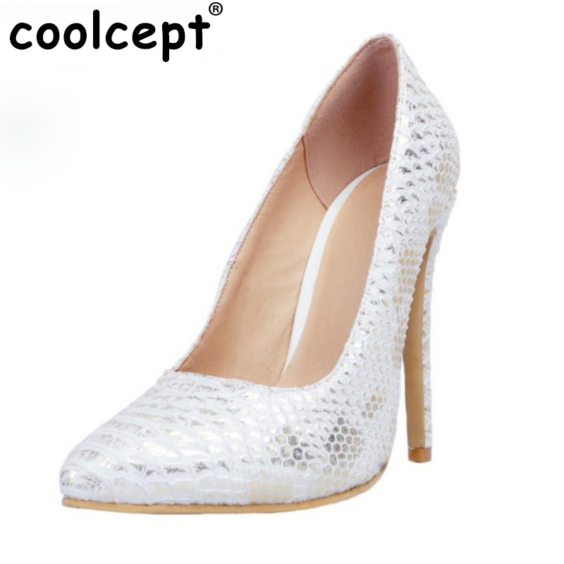 ФОТО New Sexy Thin Heel Women Shoes Sexy Shallow Mouth High Heels Women Pumps Woman Flower Pointed Toe Stiletto Footwear Size 34-47