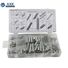 200Pcs Box Steel Spring Electrical Hardware Drum Extension Tension Springs Pressure Suit Metal Assortment Hardware Kit Assorted цена