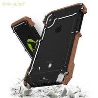 R JUST Luxury Doom Armor Dirt Shock X MAN Wood Metal Phone Case For Iphone 6