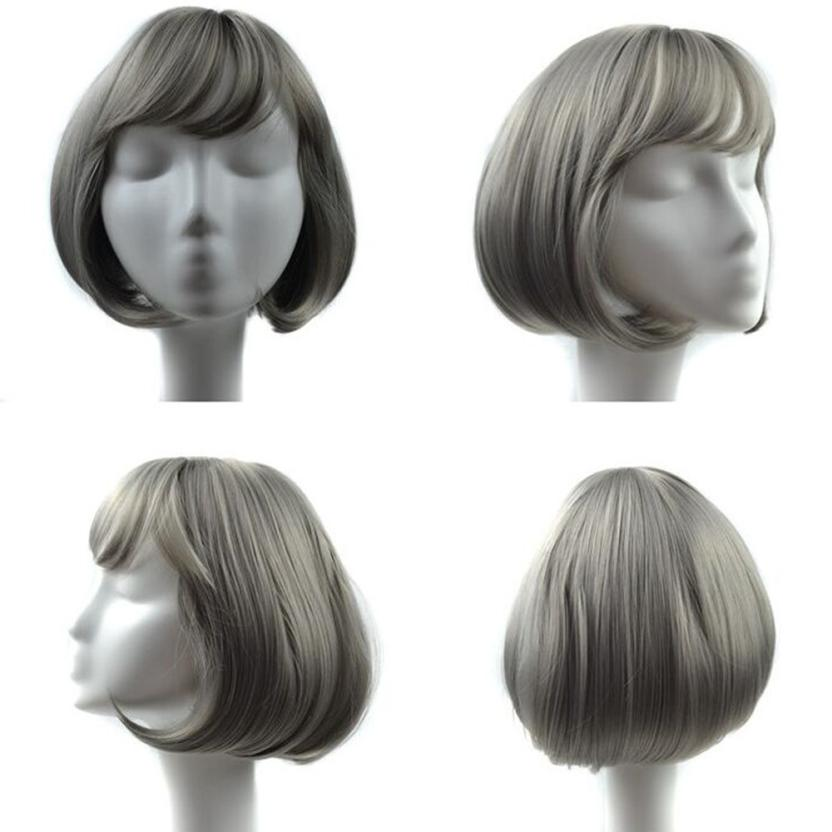 Womens Fashion Synthetic Hair Short Hair Lace Wig Lifelike Human Hair 0703