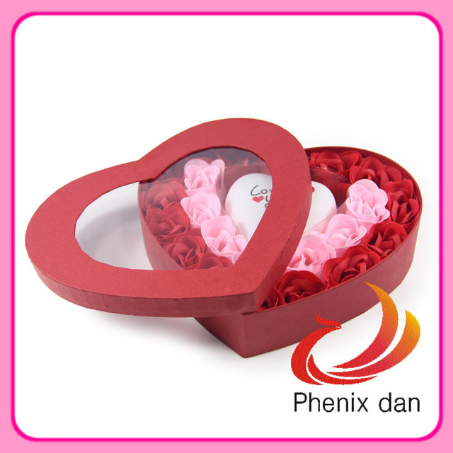 Free Shipping 2012 Hot-selling Valentine/ Wedding Gift 22pcs washing  soap Rose Flower with Led Light for Wedding favors