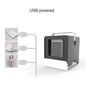 Image 5 - Usb мини портативный кондиционер увлажнитель воздуха очиститель отрицательных ионов вентилятор охлаждения воздуха кулер вентилятор с ночным освещением для офиса