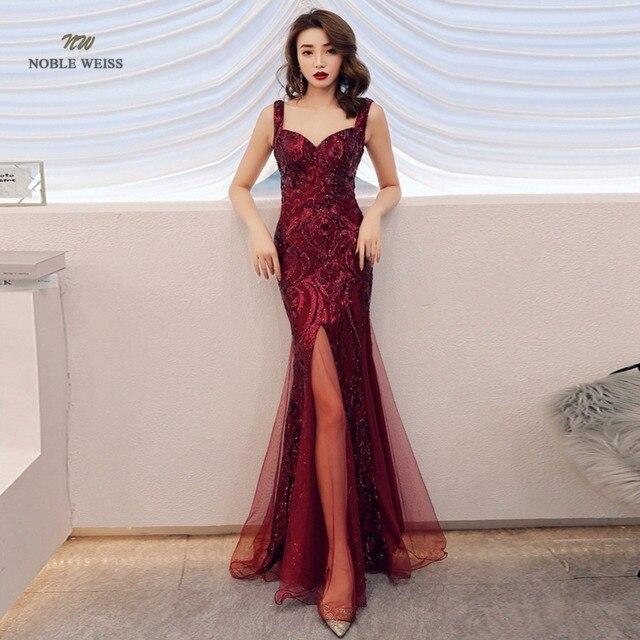 Robe de bal style sirène, en paillettes, sexy, avec fermeture éclair au dos, robes de bal, modèle 2019