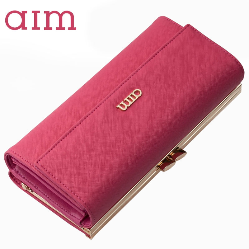 2017 New Women Wallets Genuine Leather High Quality Long Design Clutch Split Leather Wal ...
