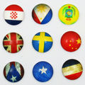 18X   12mm  national flag  pattern Round  Handmade Photo Glass Cabochons & Glass Dome Cover Pendant Cameo Settings