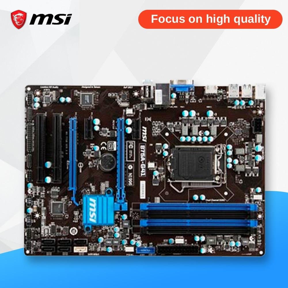 MSI B75A-G41 Desktop Motherboard B75 Socket LGA 1155 i3 i5 i7 DDR3 32G SATA3 USB3.0 ATX On Sale