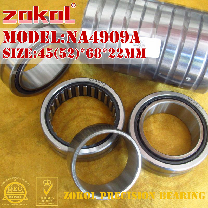 ZOKOL NA4909 A bearing NA4909A Entity ferrule needle roller bearing 45(52)*68*22mm нож rexant 12 4909