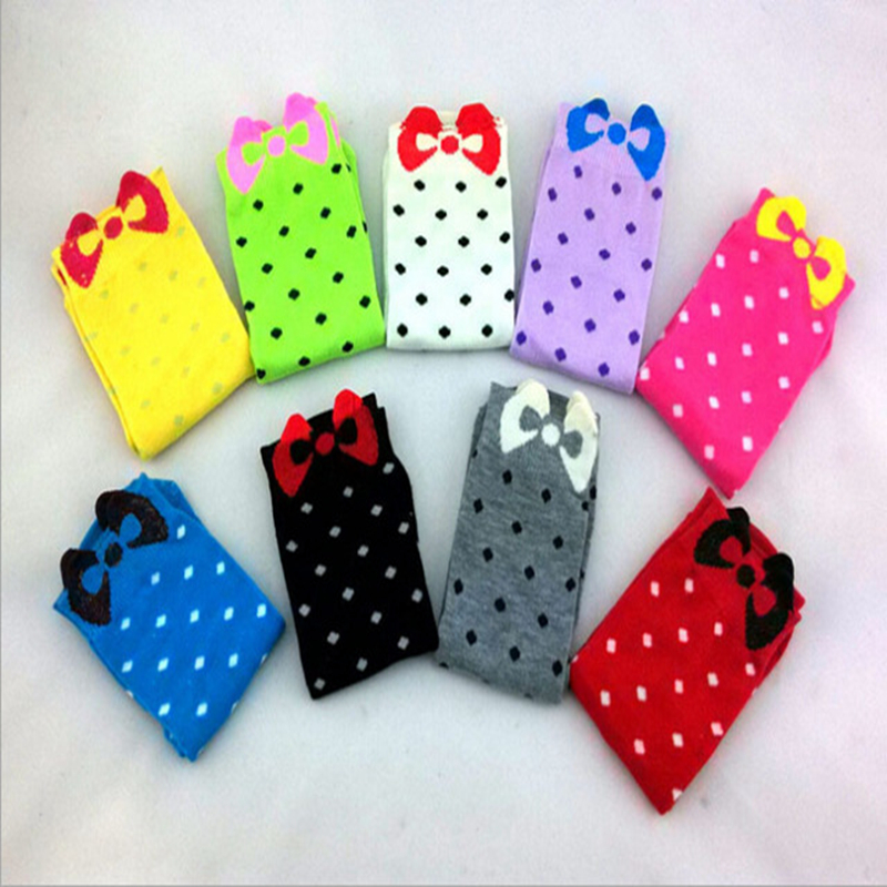 Cute Calcetines Korean   Sock   Candy color Dot meias femininas cute cotton 3D Womens Female   Socks   Calcetines Mujer cheap   socks