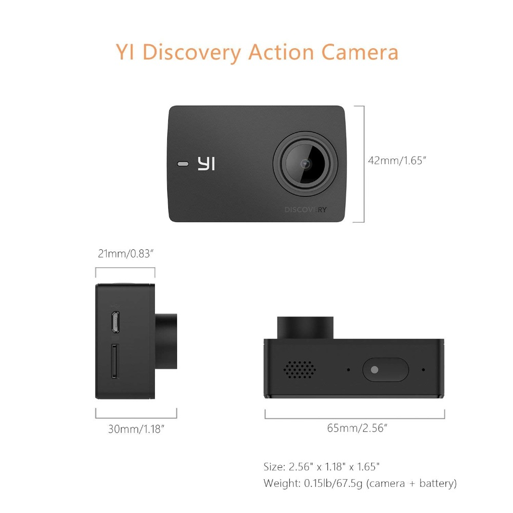 Image 5 - YI Discovery Action Camera 4K 20fps Sports Cam 8MP 16MP with 2.0 Touchscreen Built in Wi Fi 150 Degree Ultra Wide Angle-in Sports & Action Video Camera from Consumer Electronics