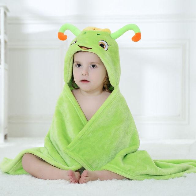 2016 Real Oferta Especial Venda Com Capuz Toalha de Bebê Toalha Toallas Quadrado de 0-3 Meses Do Bebê Frete Grátis Animais Roupão/cobertores