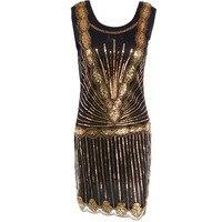 Dress 2017 High Quality Hot Style Sequins 1920 Vintage Dress Handmade Beaded Short Dresses Vestidos