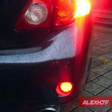 Июля Король 6.8 СМ Полусферической СВЕТОДИОДНЫЕ Стоп-Сигналы + Ночь Ходовые Огни для Nissan Qashqai X-TRAIL и Toyota Corolla 2007 ~ 10