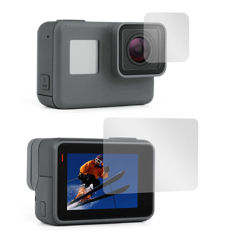 Image 2 - 2pcs Lens + Screen tempered glass Film Protector for GoPro Hero 5 6 7 Black Edition Hero 2018 Camera Lenses&Display Screen Film-in Screen Protectors from Consumer Electronics
