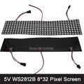 DC5V 8*32 Пикселей 256 Пикселей WS2812B Программируемый СВЕТОДИОДНЫЙ Цифровой Гибкая Панель Экрана Индивидуально Адресуемых RGB Полный Цвет