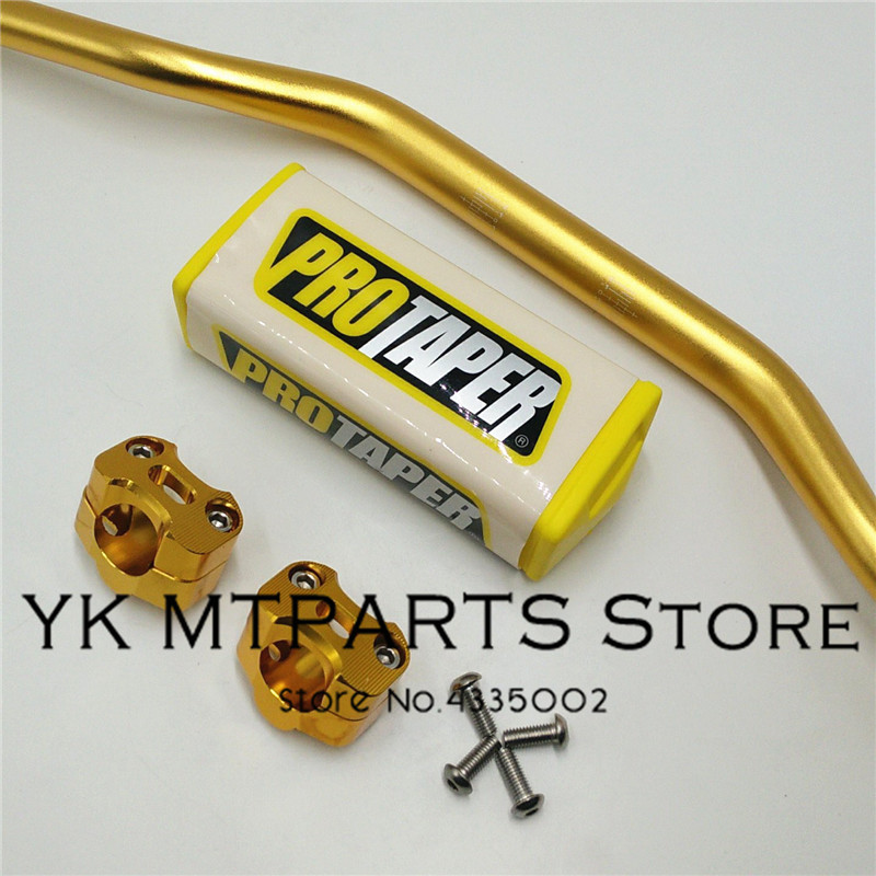 Motocross Handlebar 1-1/8 Fat Bar With Bar Pads 28mm protape clamp For KTM CRF KLX Dirt Pit Bike Kayo свитшот print bar dirt 4