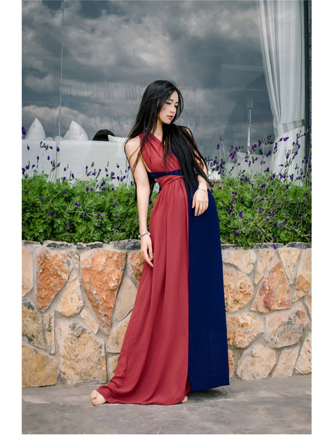 High Quality Explosions Leisure Vintage Dresses Women erogenous Spring summer Casual Beach  Dress 3