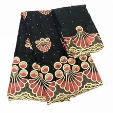 hot deal buy 2018 hot sale cotton bazin riche getzner high quality fashion african new dubai diamonds fabric for women dress black jj206-1