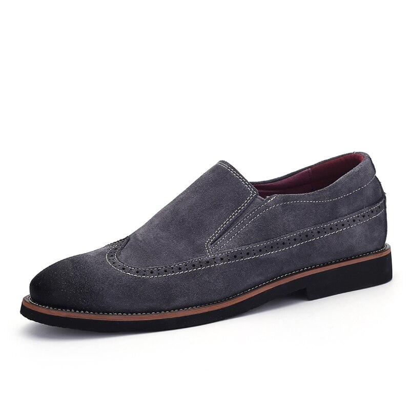 Bout Sur Black Hommes Glissement Britanniques Pointu Mocassins Casual Style Chaussures blue khaki En Cuir Naturel zMUVpqSG