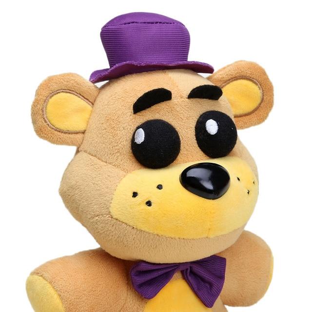 25cm Freddy Fazbear Plush Toys Golden Bear Nightmare Cupcake Foxy Balloon Boy Clown Stuffed Dolls 6