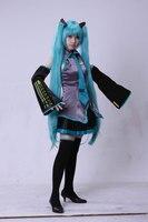 Vocaloid Miku Hatsune Cosplay Costume Kit Japanese Mid Dress 10 Pcs Set Hatsune Miku Cosplay Without