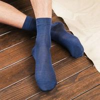 2 Pairs Mens 100 Silk Socks Mid Calf Men S A Lot Black Socks Solid Set