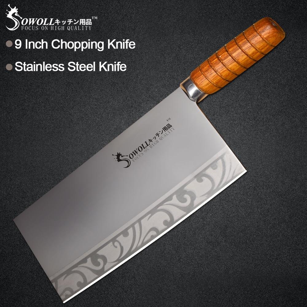 Sowoll 9 Zoll Küche Wiegemesser Edelstahl Scharfe Küche Messer Für Hacken Knochenmesser Fisch Fleisch Cleaver Kochen Zubehör
