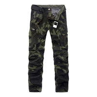 2017 Spring Men Cargo Pants Military Pants Mens Army Green Trousers Without Belt 29 40 AYG220