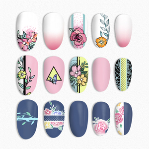Image 2 - BORN PRETTY Square Nail Stamping Plates Roses Flowers Stainless Steel Template Nail Art Image Stencil Flower Tango DIY Tools