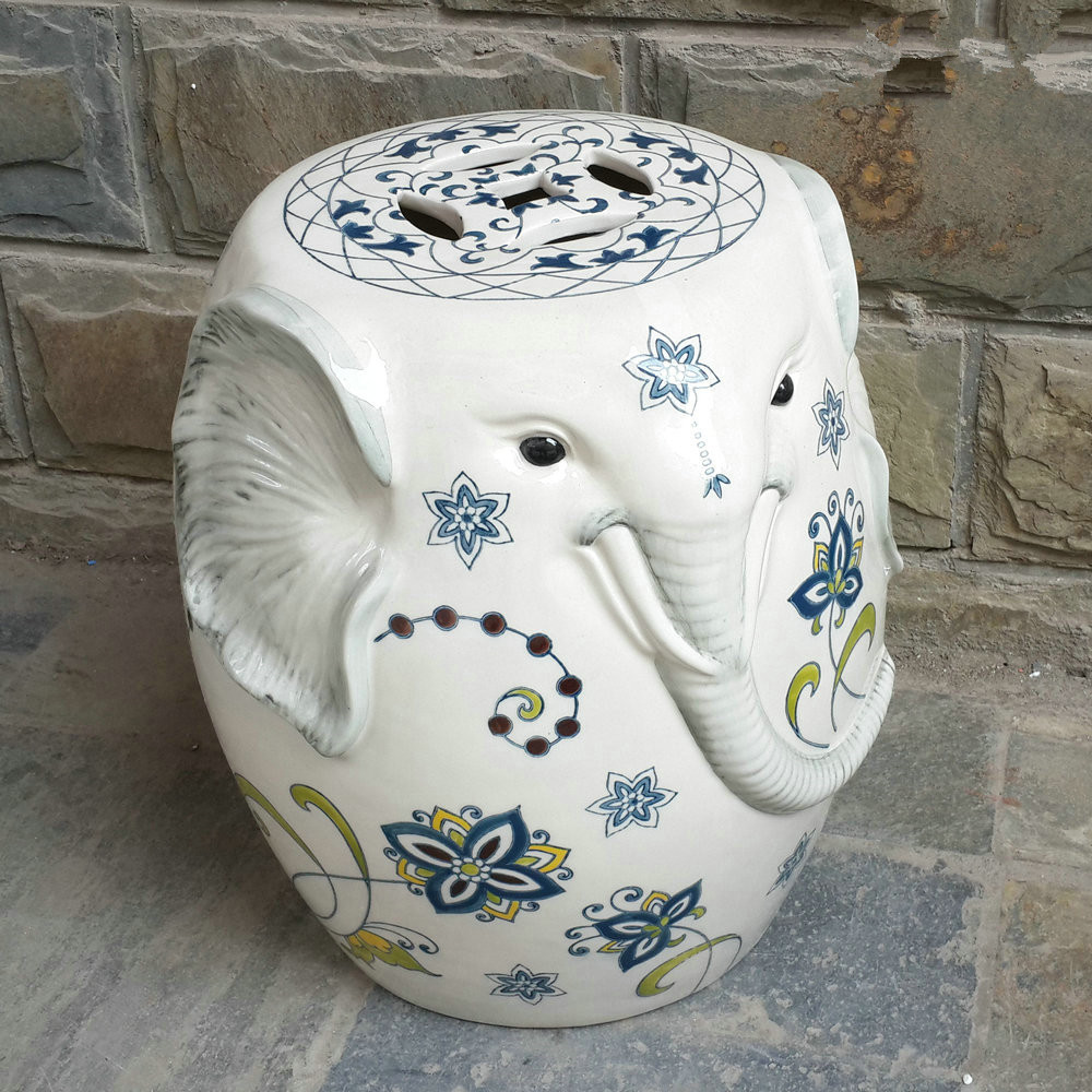 Online Buy Wholesale ceramic elephant garden stool from China