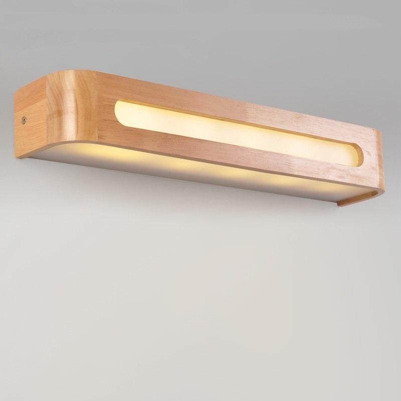 Оптический с бра Nordic лестница из дерева проход Светильник спальни ночники светодиодный зеркало в ванной свет ZL82